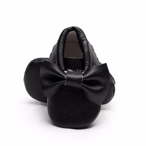Other - New black bow soft sole baby toddler moccasins